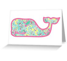 Lilly Pulitzer Whale In The Beginning Greeting Card