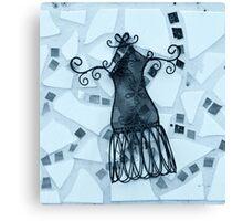 Blue Elegance - Plate No.# III Canvas Print