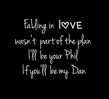 Falling in love (Black) (Dan & Phil) by what- doyoueveninternet