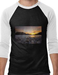 Sunset In The Mountains Men's Baseball ¾ T-Shirt