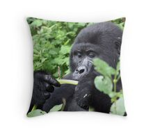 Bamboo for lunch Throw Pillow