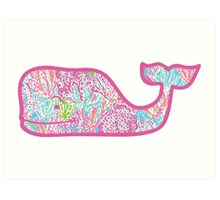 Lilly Pulitzer Whale Let's Cha Cha Art Print