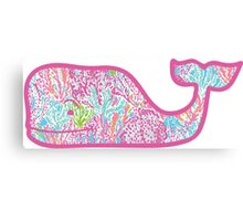 Lilly Pulitzer Whale Let's Cha Cha Canvas Print