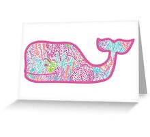 Lilly Pulitzer Whale Let's Cha Cha Greeting Card