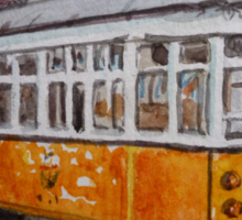 San Francisco Orange Streetcar Sticker
