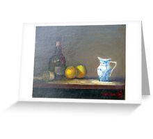 Cointreau and Copenhagen Blue  (Original oil painting) Greeting Card