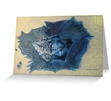 The Blue Rose Greeting Card