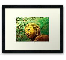 Buddha and Spring Blossoms Framed Print