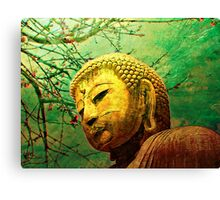 Buddha and Spring Blossoms Canvas Print
