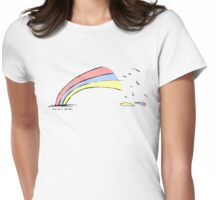 Rainbow Splash Womens Fitted T-Shirt