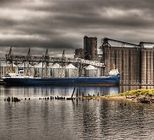 Grain ship loading  by raberry