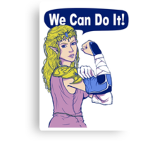 ZELDA - We Can Do It!  Canvas Print