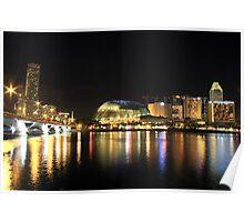 singapore at night 2 Poster