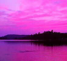Elliot Lake Sunset by Jeff Harris