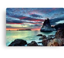 Te Hoho Rock, Flaming Embers Canvas Print