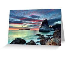 Te Hoho Rock, Flaming Embers Greeting Card