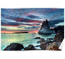 Te Hoho Rock, Flaming Embers Poster