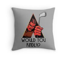 A Kindly Clockwork Throw Pillow