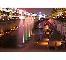 Cheonggye Stream Seoul South Korea Photographic Print