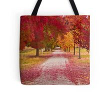 Bright Red Path  Tote Bag