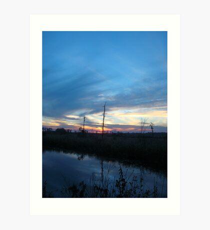 Blue Sky Smilin' at Me (OK so it was sundown) Art Print