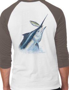 Black Marlin & Tuna Men's Baseball ¾ T-Shirt
