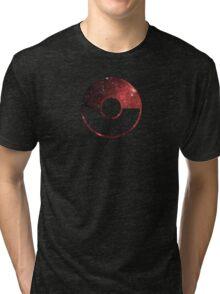 Galaxy Pokeball - ver Red Tri-blend T-Shirt