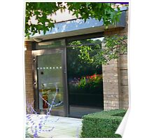 The Garden Within - Beautiful Door Reflection Poster