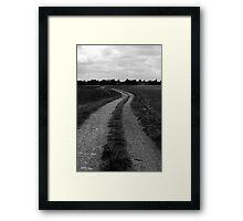 Empty path Framed Print