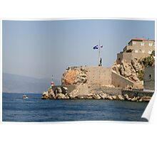 The Entrance to Hydra Harbour Poster
