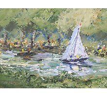 Sail Boat on Thames at Ham Common. Photographic Print