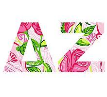 ΔΖ- Delta Zeta Lily print Photographic Print