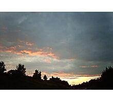 The sky last night Photographic Print
