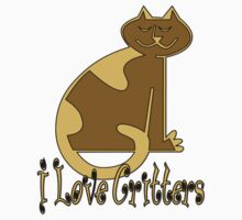 I Love Critters T-Shirt by Patricia Johnson