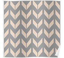 Pretty Chevron Pattern Poster