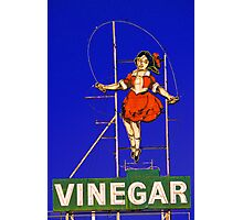 skipping girl viniger Photographic Print