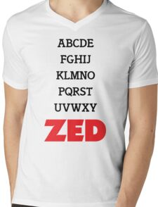 It's Zed. Mens V-Neck T-Shirt