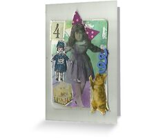 Four (is a Magic Number) Greeting Card