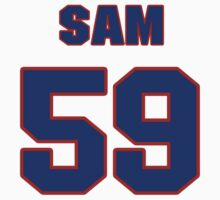 National football player Sam Rogers jersey 59 by imsport