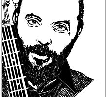 Justin Furstenfeld-Blue October Sharpie Drawing by Jason westwood