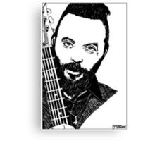Justin Furstenfeld-Blue October Sharpie Drawing Canvas Print