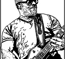 C.B Hudson - Blue October Sharpie drawing by Jason westwood