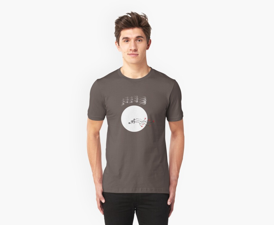 Swallows In The Bright Round Moon T-shirt by fatfatin