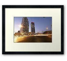 Tel Aviv a nonstop city Framed Print