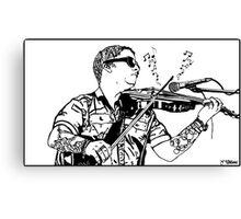 Ryan Delahoussaye - Blue October Sharpie Drawing Canvas Print