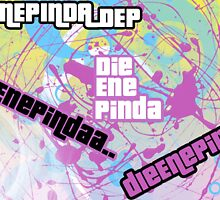 DieEnePinda With paint spatters, And Gta Font, by DieEnePinda