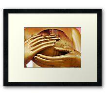 Buddha Hands Framed Print
