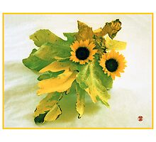 Ikebana-009 Greeting Card  by Baiko