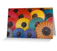 Umbrellas  Greeting Card