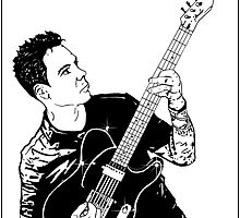 Matt Noveskey - Blue October Sharpie Drawing by Jason westwood